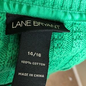 Lane Bryant Sweaters - Lane Bryant Cabled Green Sweater Cardigan 14 16
